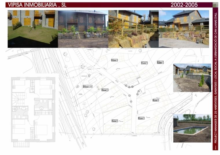 Project manager de 25 habitatges, garatges i local social a la urbanització de Can Llanas d'All