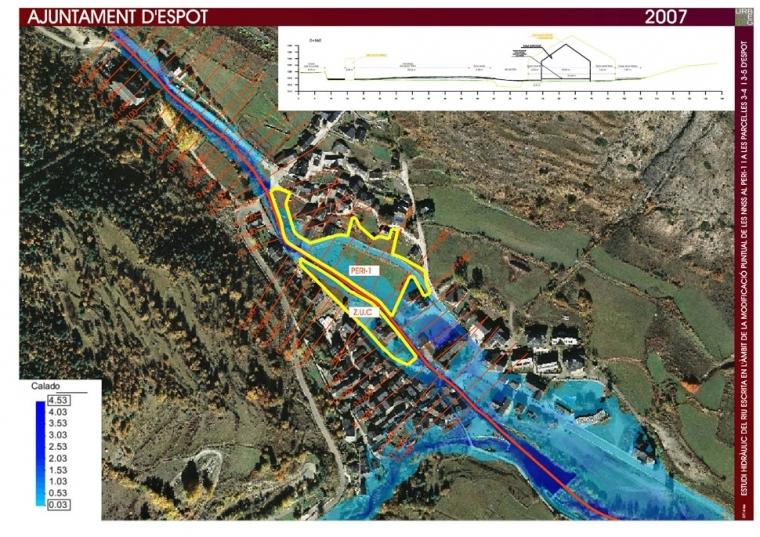 Estudi hidràulic del riu Escrita en l'àmbit de la modificació puntual de les NNSS al PERI-1 d'Espot