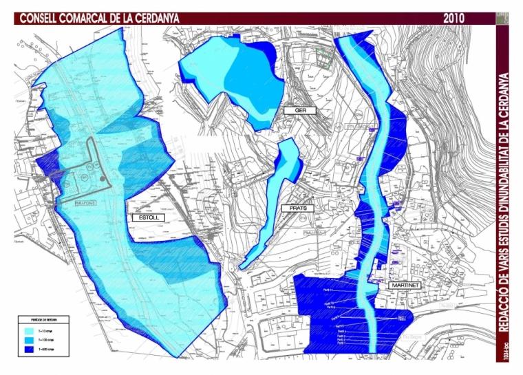 Redacció de varis estudis d'inundabilitat de la Cerdanya