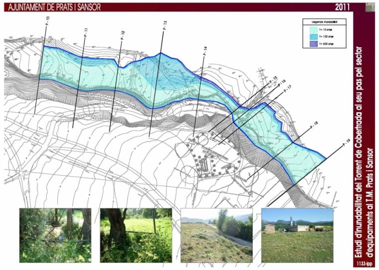 Estudi d'inundabilitat del torrent de Cobertrada al seu pas pel sector d'equipaments al T.M. de Prats i Sansor