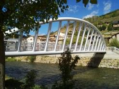 Passarel·la de vianants sobre el riu Segre a Martinet